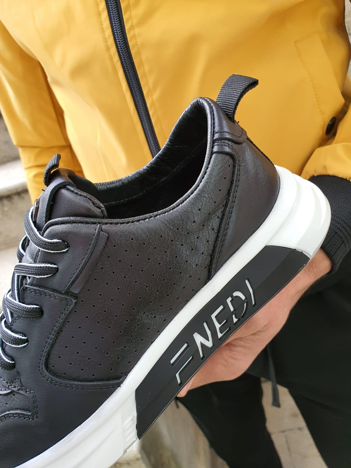 Black Mid Top Sneakers by Sardinelli